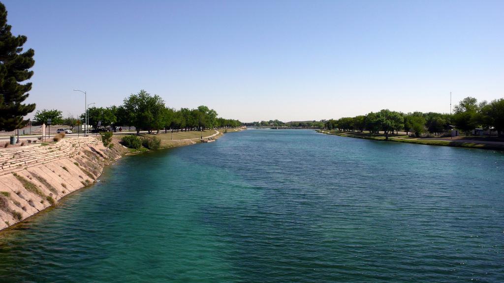 Carlsbad New Mexico - Dammed up Pecos River at Carlsbad