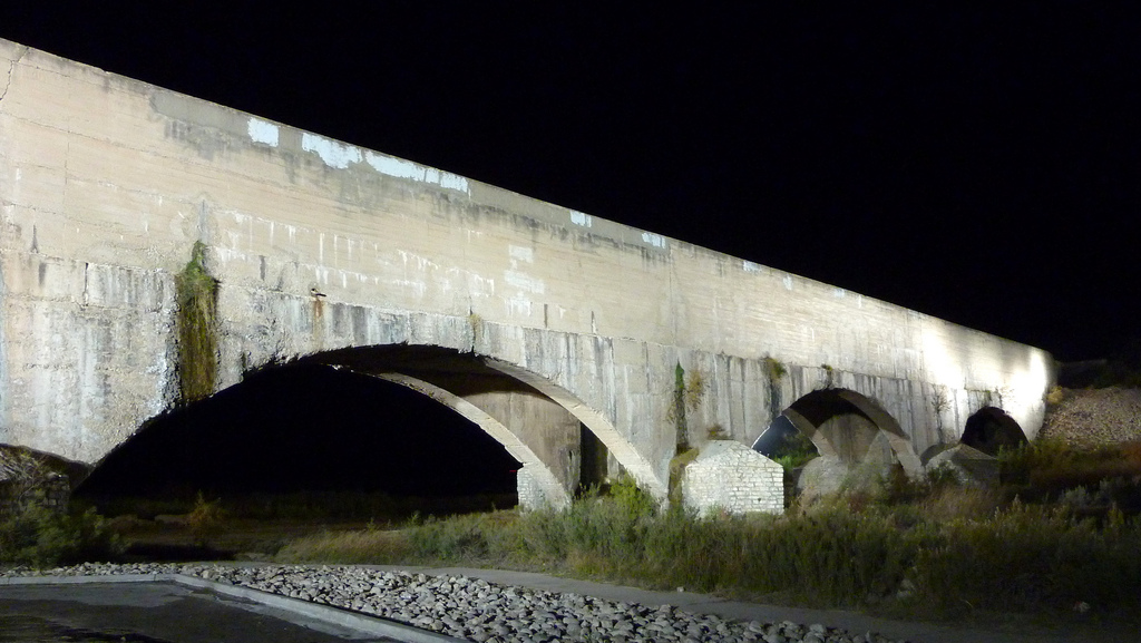 Carlsbad New Mexico - Pecos River Flume at Night