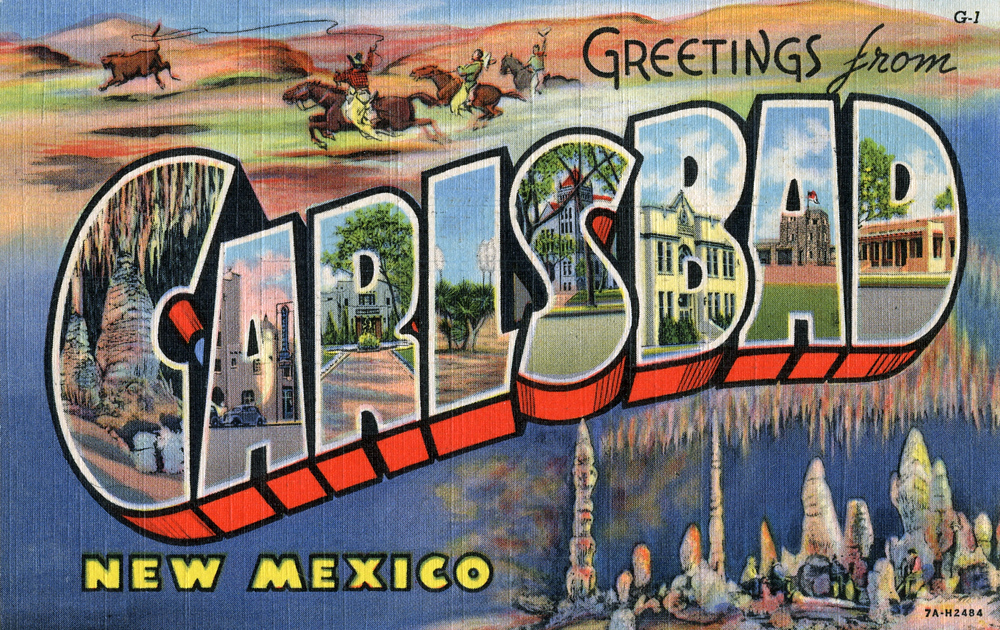 Favorite Greetings from Carlsbad, New Mexico - Large Letter Postcard by  RL68