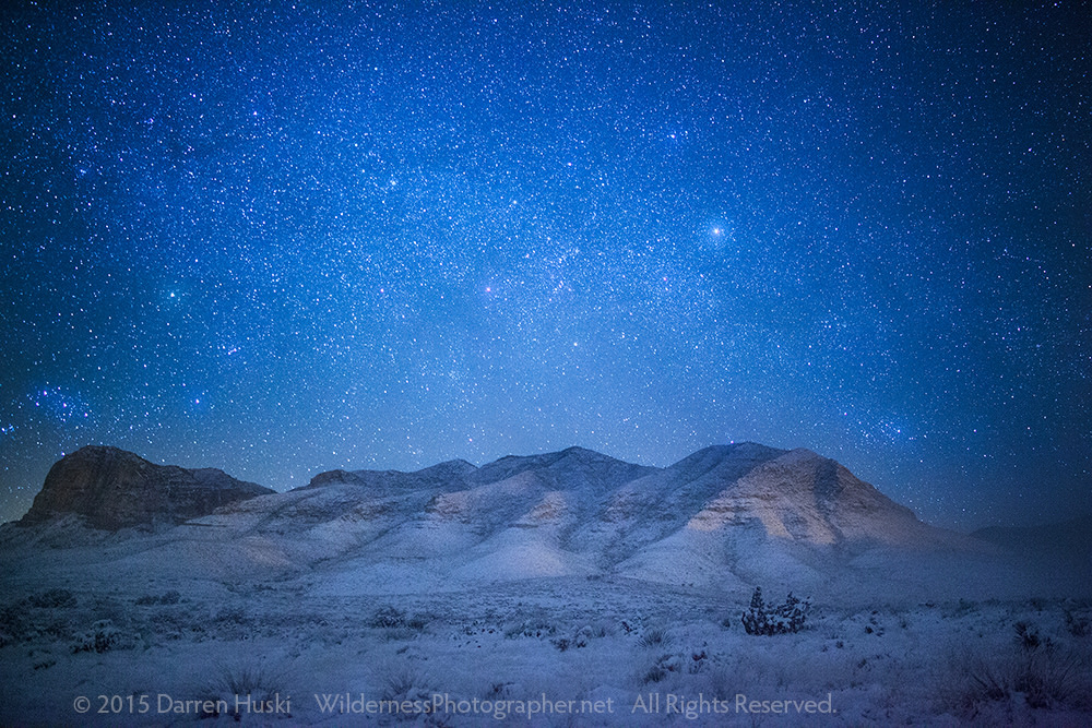 Carlsbad New Mexico - Guadalupe Mountains Winter Night