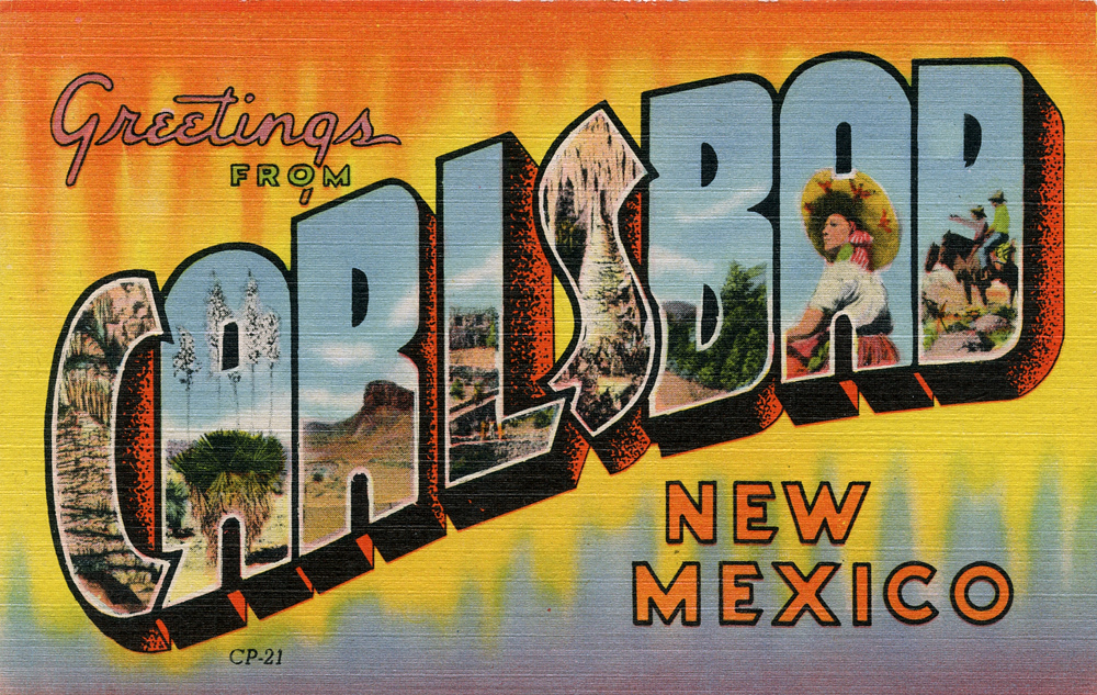 Popular Greetings from Carlsbad, New Mexico - Large Letter Postcard by  WQ01