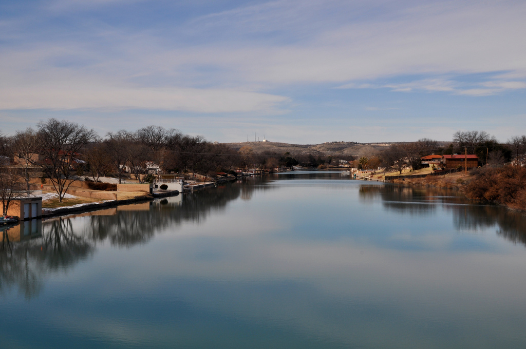 The pecos river through carlsbad by clinton steeds visit for Pecos river fishing